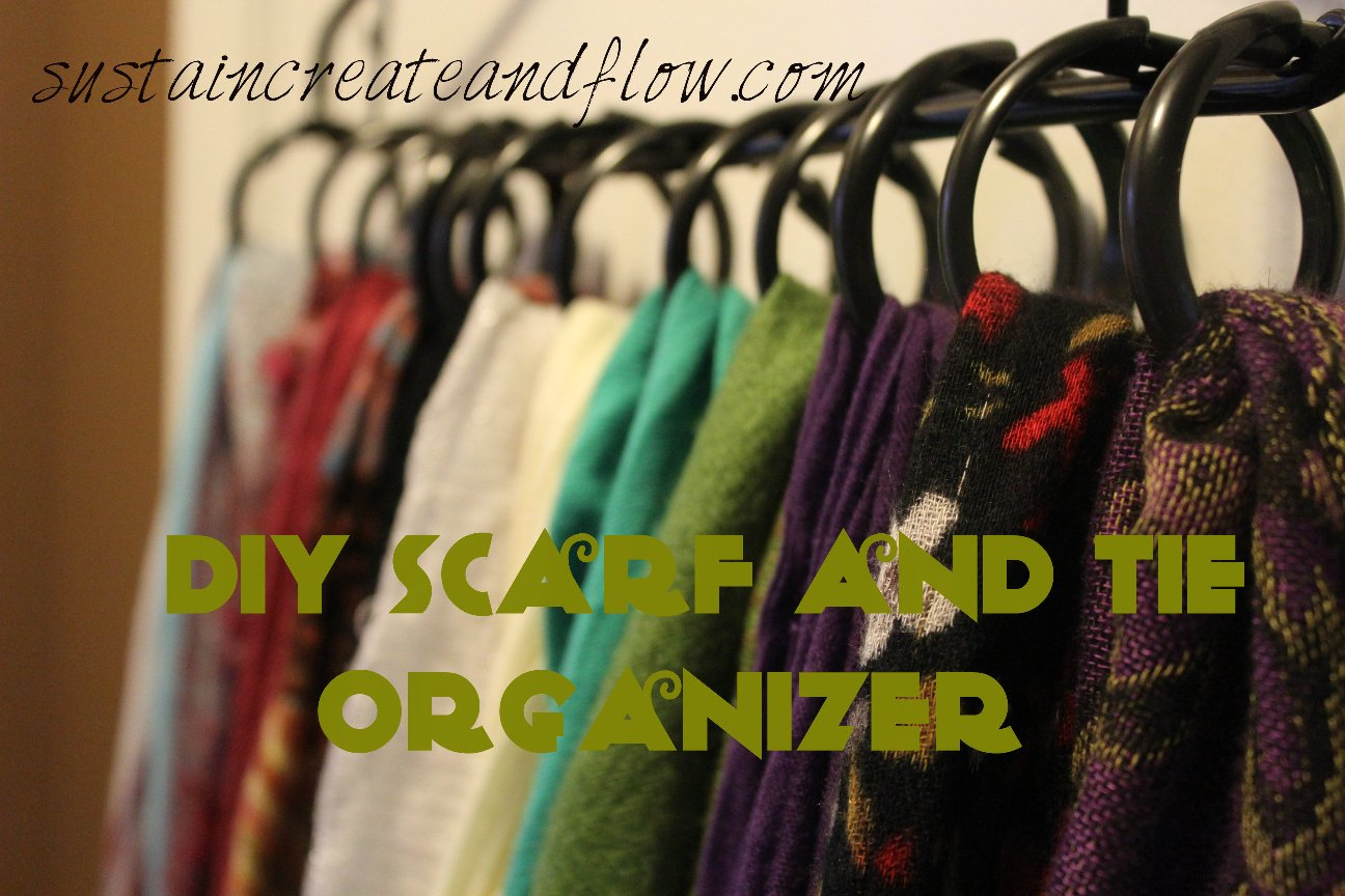 Scarf and tie rack archives sustain create and flow diy scarf and tie organizer solutioingenieria Images